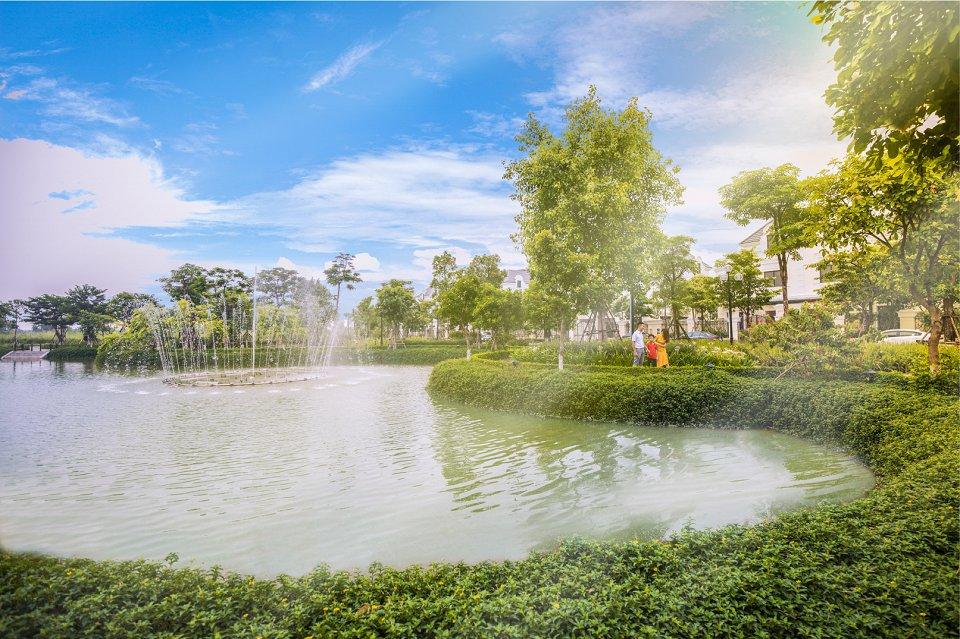Hồ điều hòa 3ha khu đô thị An Lạc Green Symphony